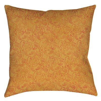 Zinnia Damask Printed Throw Pillow Size: 16 H x 16 W x 4 D