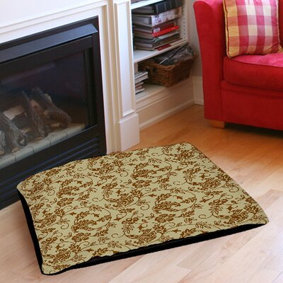 Sultry Blues Indoor/Outdoor Pet Bed Color: Taupe, Size: 50 L x 40 W