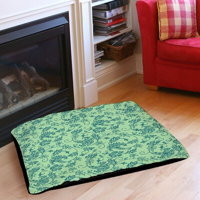 Sultry Blues Indoor/Outdoor Pet Bed Size: 40 L x 30 W, Color: Seafoam