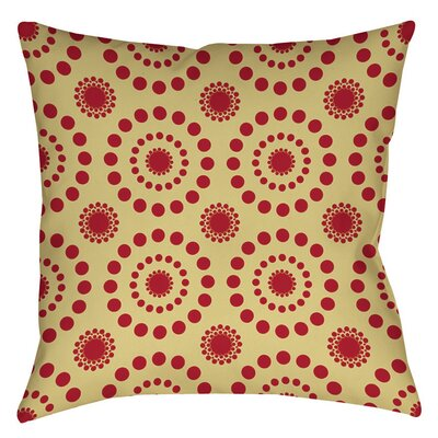 Tropical Breeze Patterns Indoor/Outdoor Throw Pillow Size: 18 H x 18 W x 5 D, Color: Red