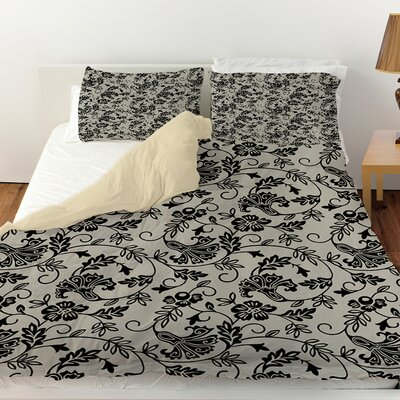 Sultry Blues Duvet Cover Size: Twin, Color: Grey