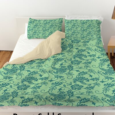 Sultry Blues Duvet Cover Size: Twin, Color: Seafoam