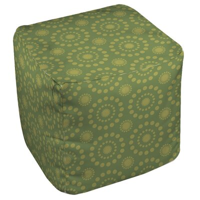 Tropical Breeze Pouf Upholstery: Green
