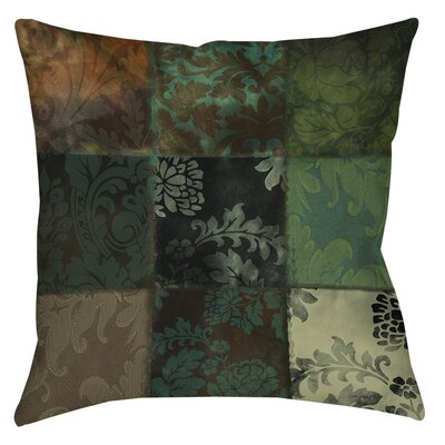 Velvet Patch Indoor/Outdoor Throw Pillow Color: Green, Size: 18 H x 18 W x 5 D