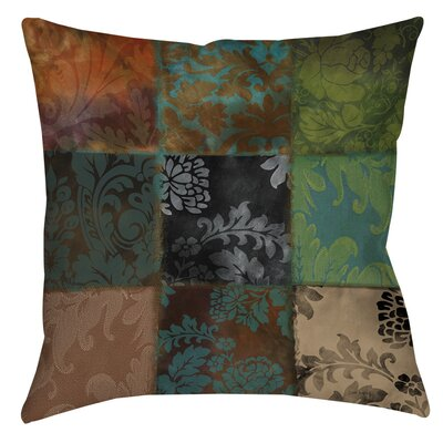Rosalinda Indoor/Outdoor Throw Pillow Size: 20 H x 20 W x 5 D, Color: Brown