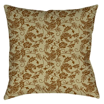 Sultry Blues Printed Throw Pillow Size: 14 H x 14 W x 3 D, Color: Taupe