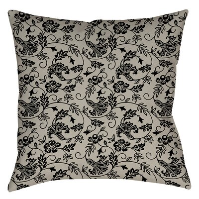 Sultry Blues Indoor/Outdoor Throw Pillow Size: 18 H x 18 W x 5 D, Color: Grey