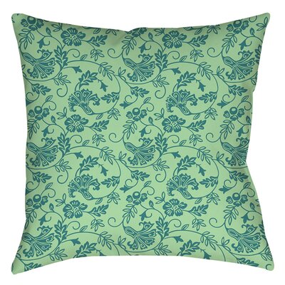 Sultry Blues Printed Throw Pillow Size: 18 H x 18 W x 5 D, Color: Seafoam