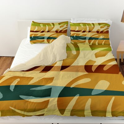 Tropical Leaf 1 Duvet Cover Size: King