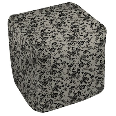 Sultry Blues Pouf Upholstery: Grey