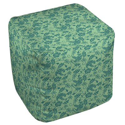 Sultry Blues Pouf Upholstery: Seafoam