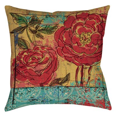 Valencia 3 Printed Throw Pillow Size: 16 H x 16 W x 4 D