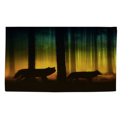 Tracking Wolves Area Rug Rug Size: 2 x 3