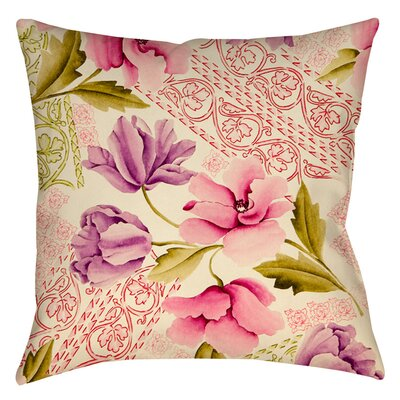 Tulips and Lace Printed Throw Pillow Size: 18 H x 18 W x 5 D