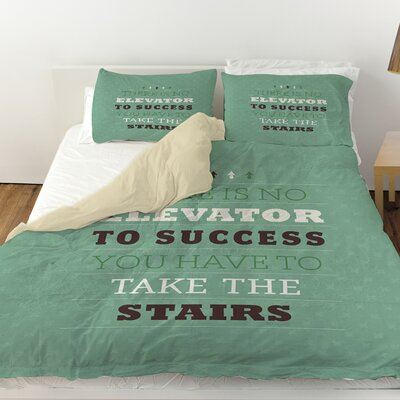 Take the Stairs Duvet Cover Size: King