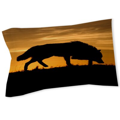 Wolf Silhouette Sham Size: Queen/King