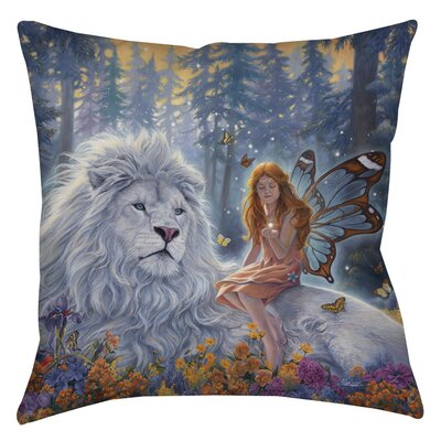 Star Birth Indoor/Outdoor Throw Pillow Size: 16 H x 16 W x 4 D