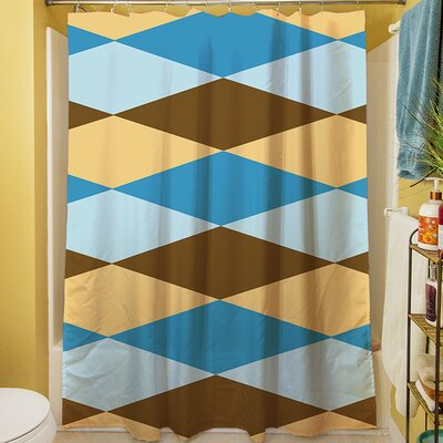 Bold in Blue Argyle Shower Curtain