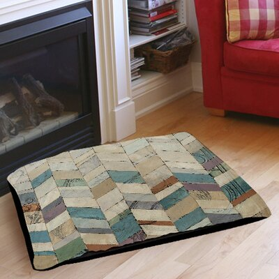 Chevron Overlay 2 Indoor/Outdoor Pet Bed Size: 28 L x 18 W