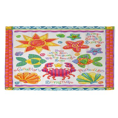 By the Sea Orange/Pink Area Rug Rug Size: 4 x 6