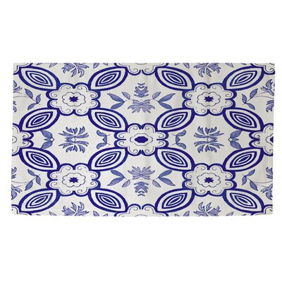 Chinoiserie Swatch 1 Blue/White Area Rug Rug Size: 2 x 3