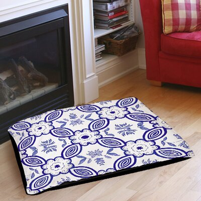 Chinoiserie Swatch 1 Indoor/Outdoor Pet Bed Size: 40 L x 30 W