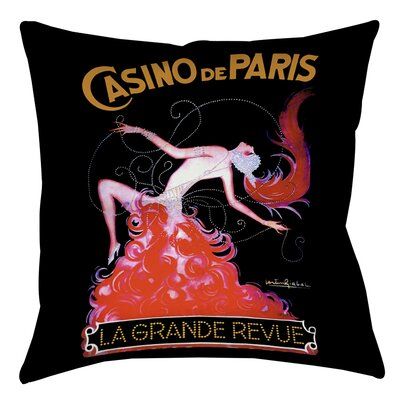 Casino De Paris Printed Throw Pillow Size: 18 H x 18 W x 5 D