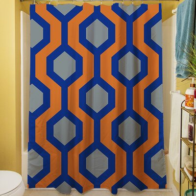 San Marcos Shower Curtain Color: Blue
