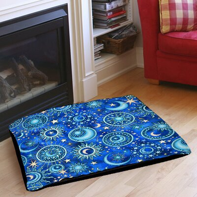 Celestial Medallions Indoor/Outdoor Pet Bed Size: 28 L x 18 W