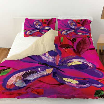 Butterfly Duvet Cover Size: Queen