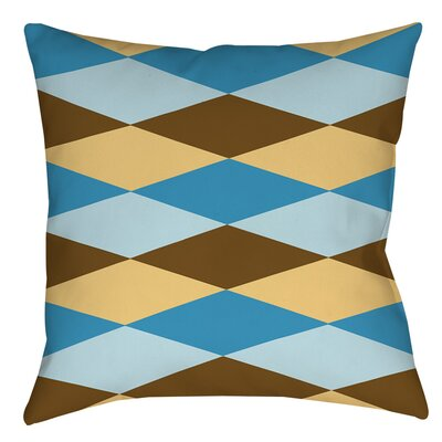 Bold in Blue Argyle Indoor/Outdoor Throw Pillow Size: 18 H x 18 W x 5 D