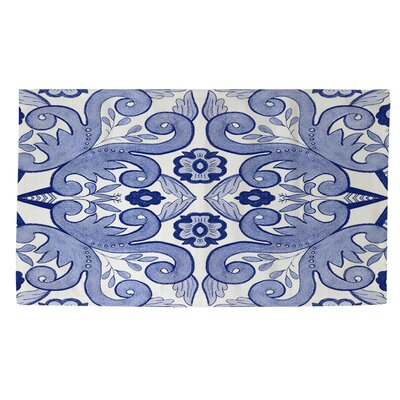 Chinoiserie Swatch 4 Blue/White Area Rug Rug Size: 2 x 3