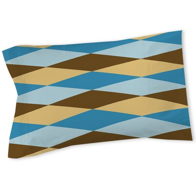 Bold in Blue Argyle Sham Size: Queen/King