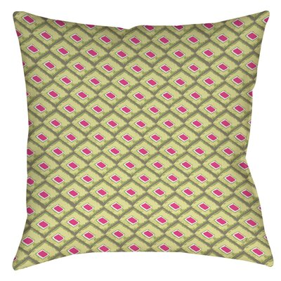 Butterfly Diamond Indoor/Outdoor Throw Pillow Size: 16 H x 16 W x 4 D