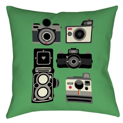 Cameras Printed Throw Pillow Size: 26 H x 26 W x 7 D