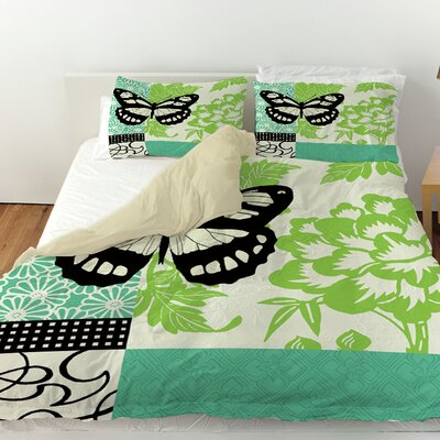 Butterfly Journey 2 Duvet Cover Size: Twin
