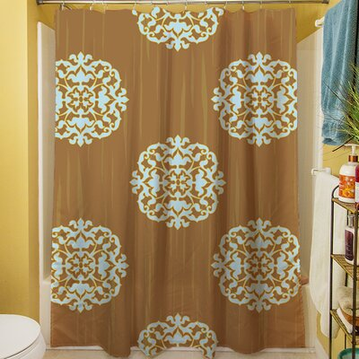 Bold in Blue Medallion Shower Curtain