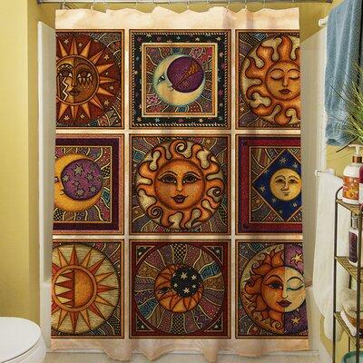 Celestial Squares Shower Curtain