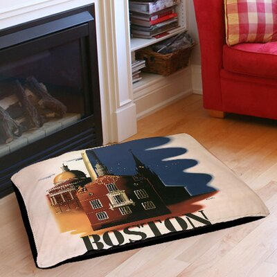 Boston Architecture Indoor/Outdoor Pet Bed Size: 40 L x 30 W