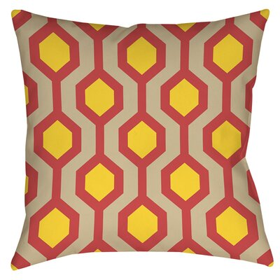 San Marcos Indoor/Outdoor Throw Pillow Size: 18 H x 18 W x 5 D, Color: Cayenne