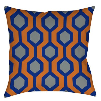 San Marcos Indoor/Outdoor Throw Pillow Size: 18 H x 18 W x 5 D, Color: Blue