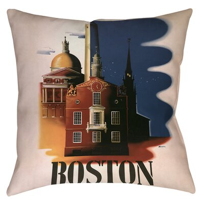Boston Architecture Indoor/Outdoor Throw Pillow Size: 18 H x 18 W x 5 D