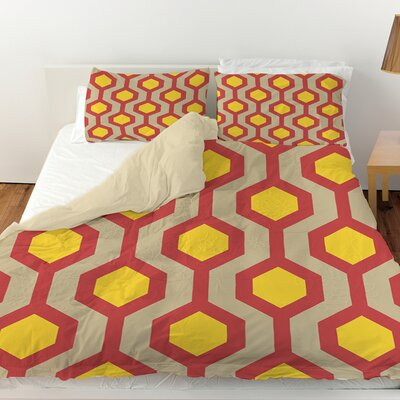 Carpet Duvet Cover Color: Cayenne, Size: Twin