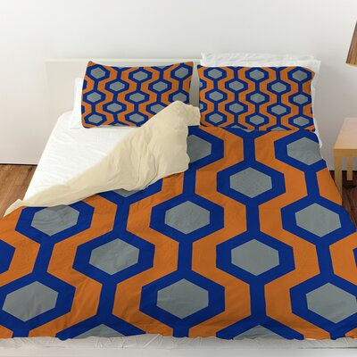 Carpet Duvet Cover Size: King, Color: Blue