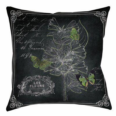 Chalkboard Botanical 2 Indoor/Outdoor Throw Pillow Size: 18 H x 18 W x 5 D
