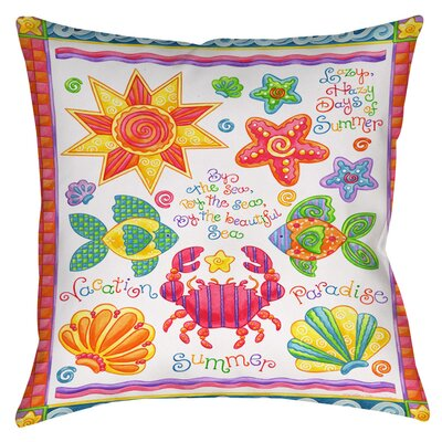 By the Sea Indoor/Outdoor Throw Pillow Size: 20 H x 20 W x 5 D
