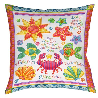 By the Sea Printed Throw Pillow Size: 16 H x 16 W x 4 D