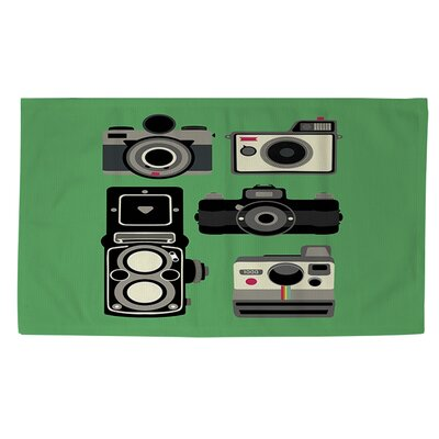 Cameras Green Area Rug Rug Size: 4 x 6