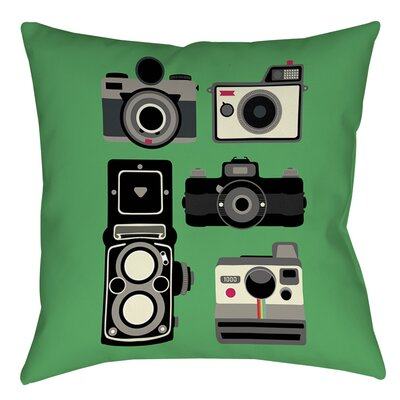 Cameras Indoor/Outdoor Throw Pillow Size: 18 H x 18 W x 5 D