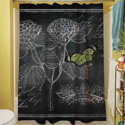 Chalkboard Botanical I Shower Curtain
